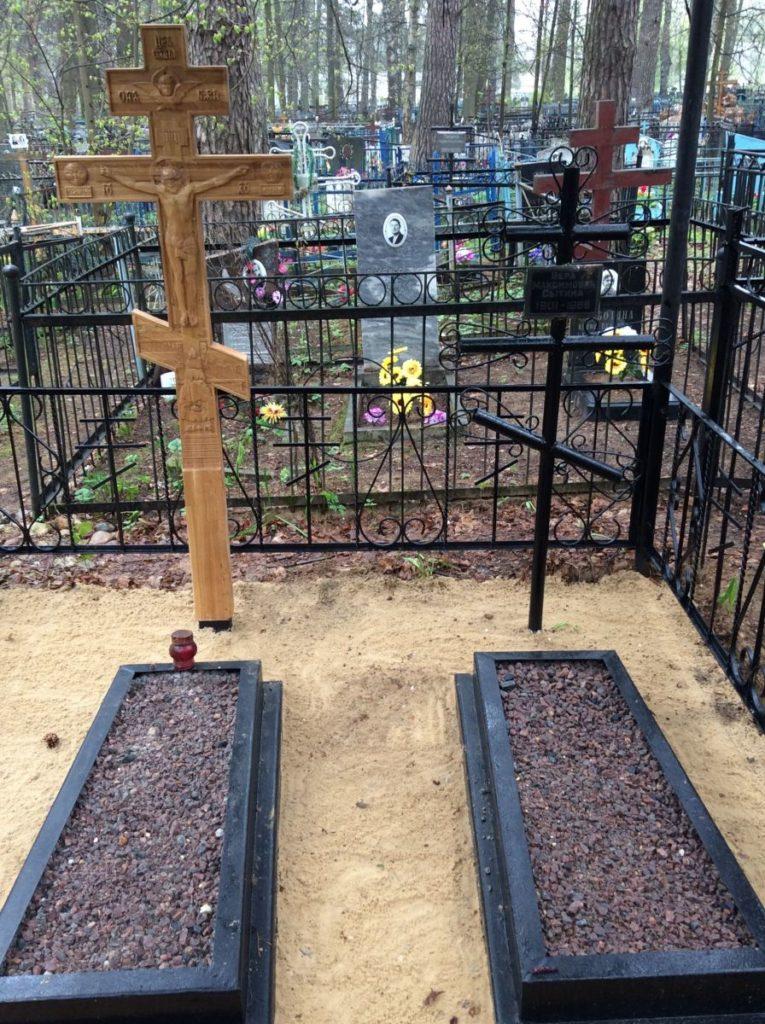 Могила С.И. Фуделя на городском кладбище. Май 2019 г.